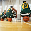 m535 TA16.14 / Author wants to use this photo from Corbis for this concept.  Do you want to pick-up fm534?  Basketball Players Sitting on Basketballs --- Image by © Patrik Giardino/CORBIS