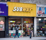 P5.9 / Franchising Photo: To replace Door to Door Drycleaning on page 132 Choice 8 of 12  A Subway sandwich shop in Midtown Manhattan in New York on Thursday, March 31, 2011. Subway has surp ...
