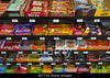 P14.8 Familiar brands on store shelf<br /> Choice 2 of 9<br /> <br /> <br /> AKT71G Candy Bars