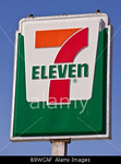 P15.3 / 7-11 for Time and Place Utility  Choice 8 of 11  B8WCAF ARLINGTON VIRGINIA USA 7 Eleven sign