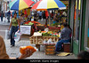 m328, Fig 7.1 / CO7: a food market scene in Panama where we can read the labels on the food. <br /> Choice 10 of 11<br /> <br /> <br /> A2NW9A Street side vegetable vendors at Santa Ana Park in Panama City Panama The sign promotes onions at US 0 20 per pound