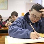 Un16.16 / New photo requested of child with down syndrome in classroom setting, choice 1 of 13